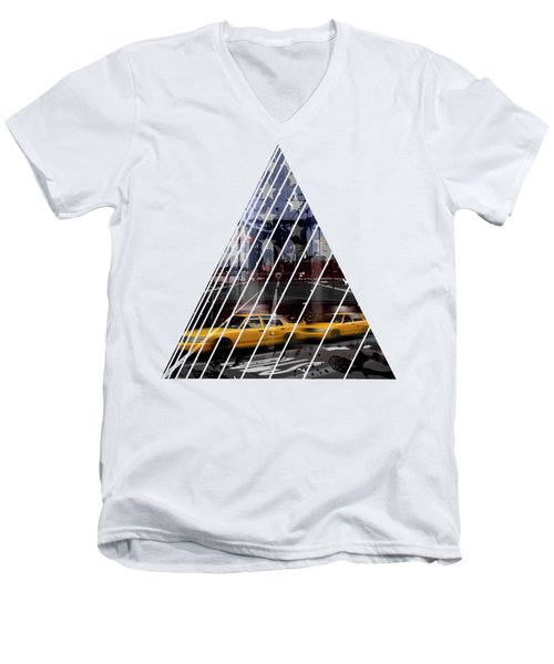 City-art Nyc Composing Men's V-Neck T-Shirt