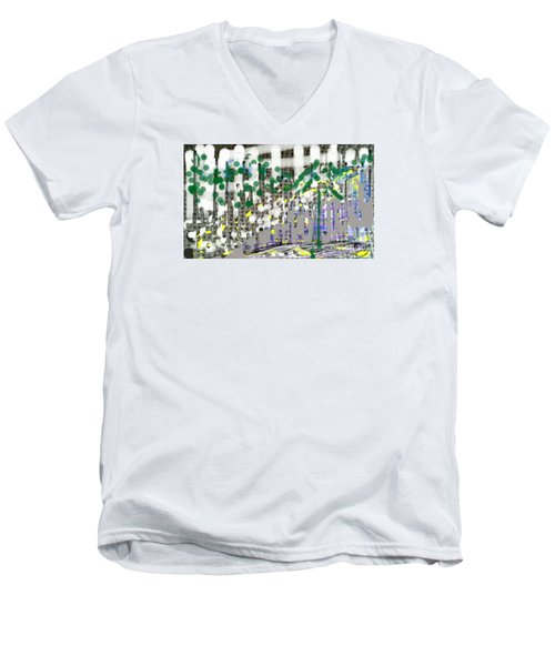 City Life Rat Race Men's V-Neck T-Shirt