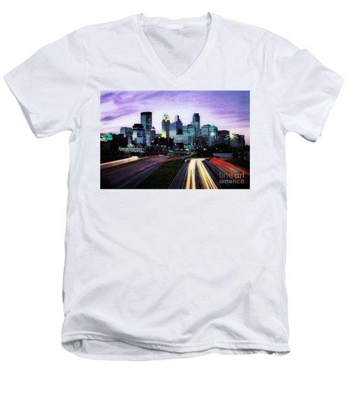 City Moves Men's V-Neck T-Shirt