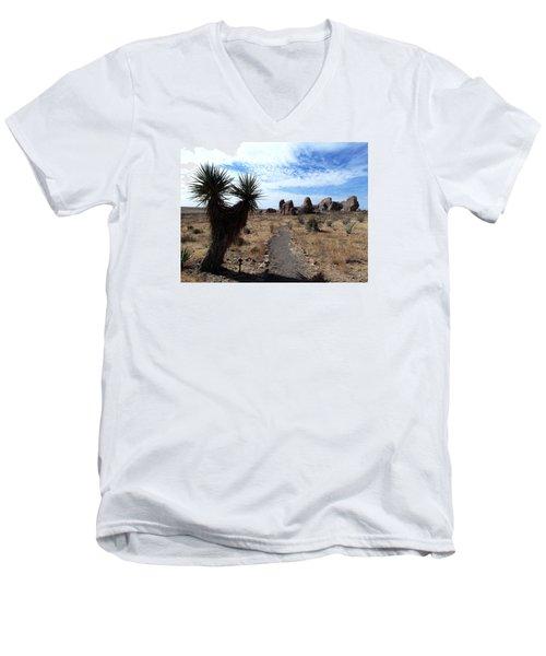 City Of Rocks - New Mexico Men's V-Neck T-Shirt