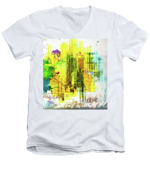 City Splash Men's V-Neck T-Shirt