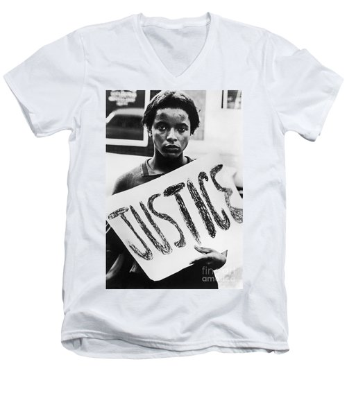 Civil Rights, 1961 Men's V-Neck T-Shirt