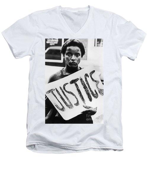 Civil Rights, 1961 Men's V-Neck T-Shirt