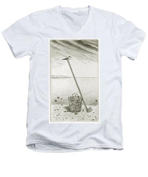 Clamming Men's V-Neck T-Shirt