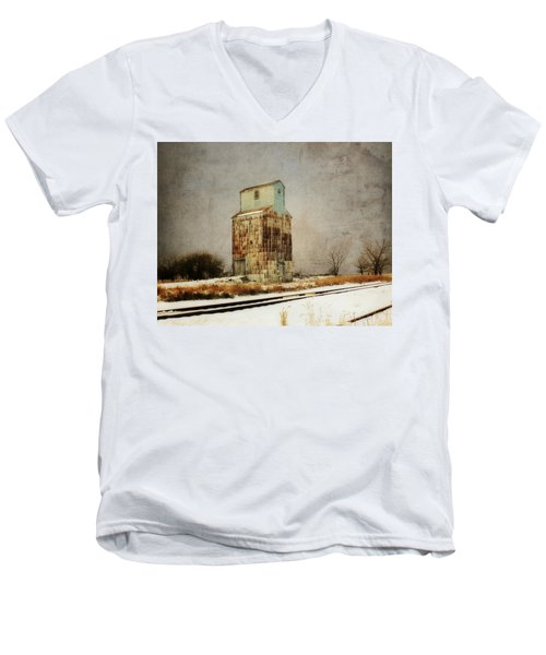 Men's V-Neck T-Shirt featuring the photograph Clare Elevator by Julie Hamilton