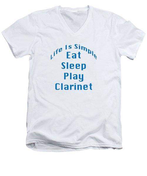 Clarinet Eat Sleep Play Clarinet 5512.02 Men's V-Neck T-Shirt