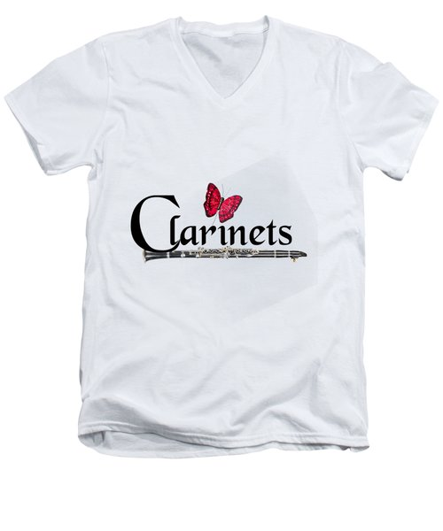 Clarinets And Butterfly Men's V-Neck T-Shirt