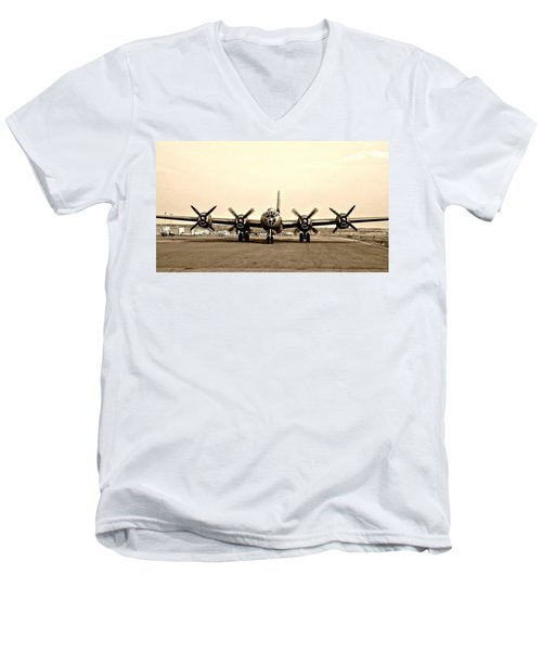 Classic B-29 Bomber Aircraft Men's V-Neck T-Shirt
