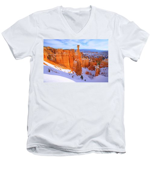 Men's V-Neck T-Shirt featuring the photograph Classic Bryce by Chad Dutson