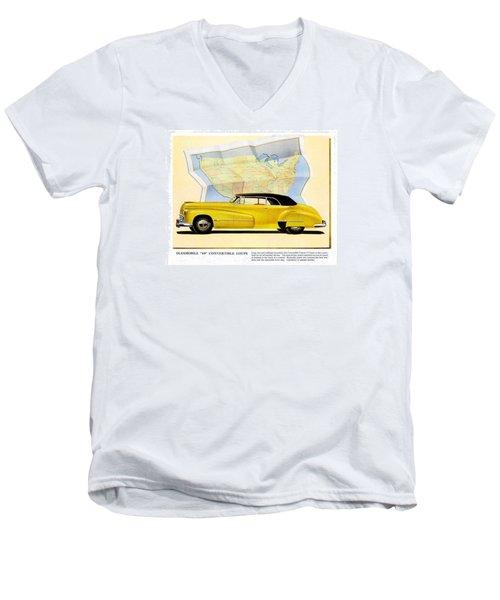 Classic Car Ads Men's V-Neck T-Shirt by Allen Beilschmidt