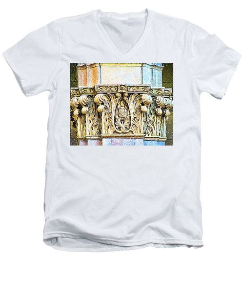 Men's V-Neck T-Shirt featuring the digital art Classic by Wendy J St Christopher