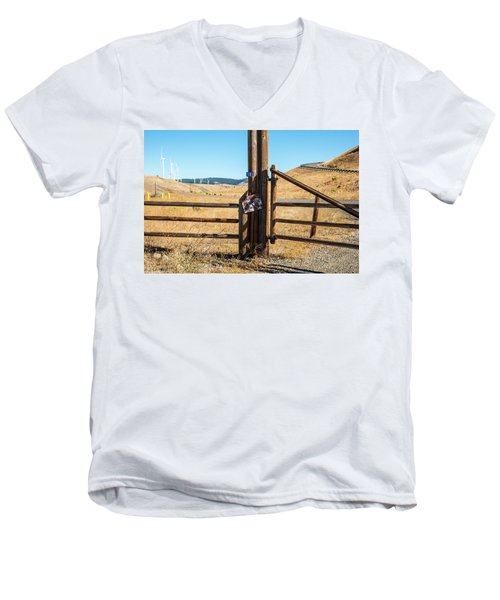 Clean Power And Old Ranch Gates Men's V-Neck T-Shirt