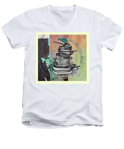 Clean Your Kitchen  Men's V-Neck T-Shirt