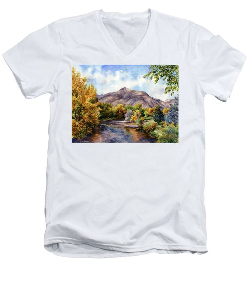 Clear Creek Men's V-Neck T-Shirt by Anne Gifford