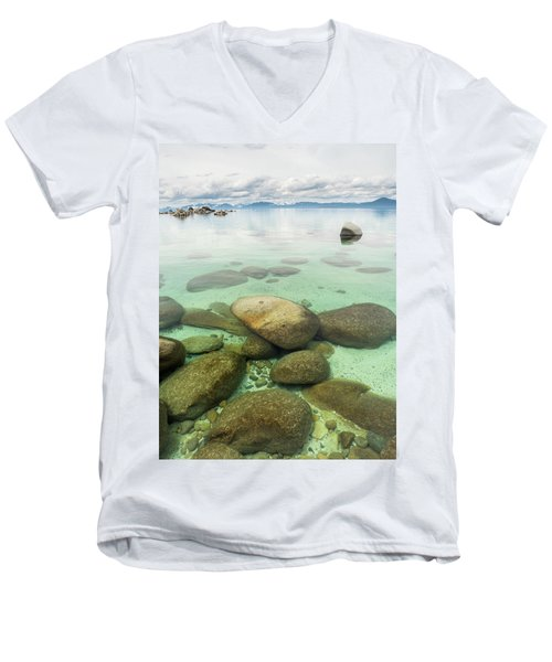 Clear Water, Stormy Sky Men's V-Neck T-Shirt