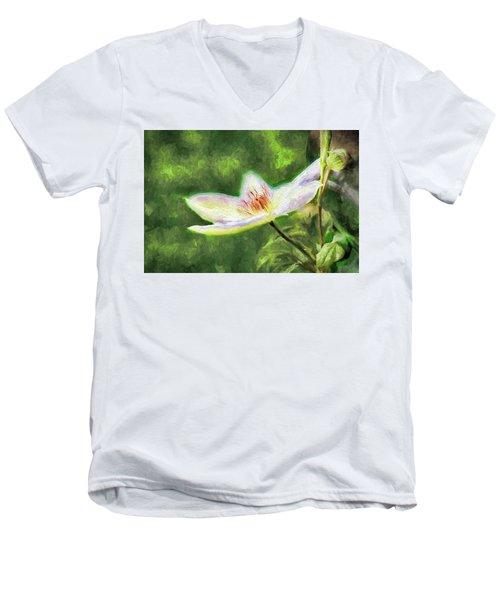 Clematis Study Men's V-Neck T-Shirt