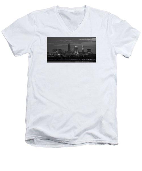 Cleveland After Dark Men's V-Neck T-Shirt