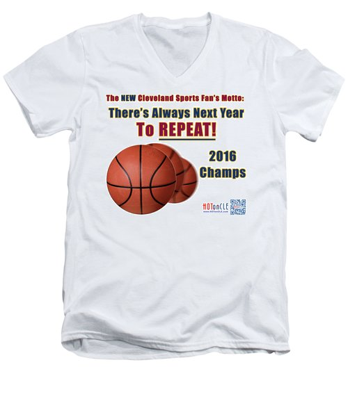 Cleveland Basketball 2016 Champs New Motto Men's V-Neck T-Shirt