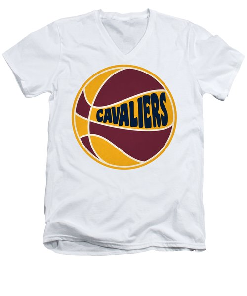 Men's V-Neck T-Shirt featuring the photograph Cleveland Cavaliers Retro Shirt by Joe Hamilton