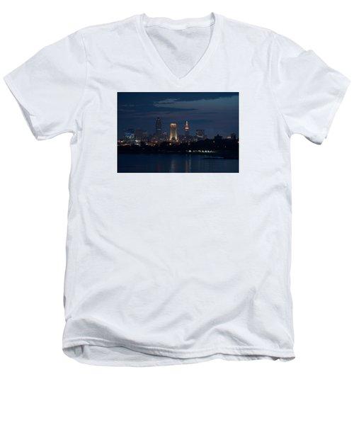 Cleveland Reflections Men's V-Neck T-Shirt