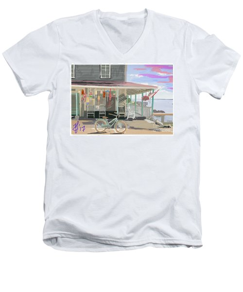 Cliff Island Store 2017 Men's V-Neck T-Shirt