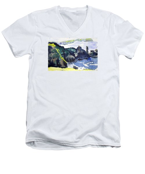 Cliffs In The Sea Men's V-Neck T-Shirt