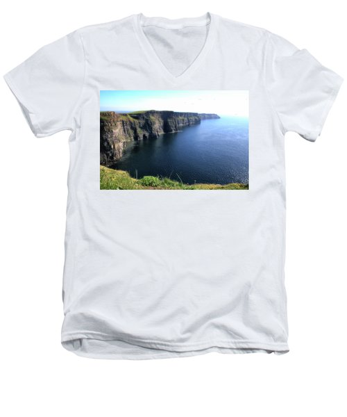 Cliffs Of Moher Men's V-Neck T-Shirt by Catherine Alfidi