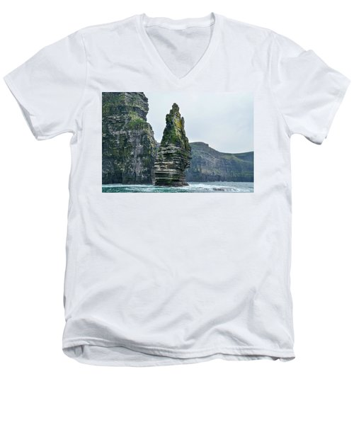 Cliffs Of Moher Sea Stack Men's V-Neck T-Shirt