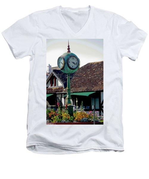 Clock Of Solvang Men's V-Neck T-Shirt