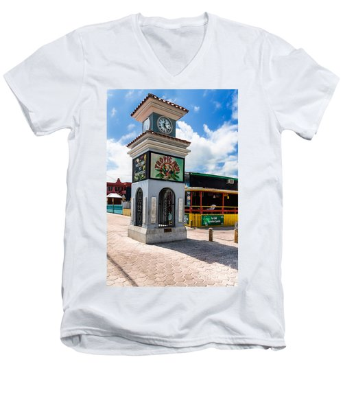Clock Tower Men's V-Neck T-Shirt by Lawrence Burry