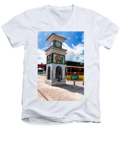 Clock Tower Men's V-Neck T-Shirt