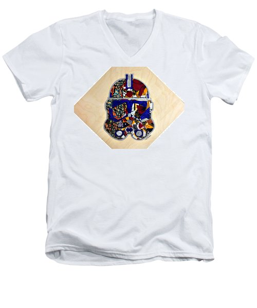 Clone Trooper Star Wars Afrofuturist Men's V-Neck T-Shirt