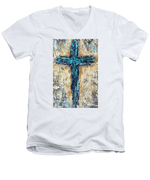 Clothe Yourself In Mercy Men's V-Neck T-Shirt by Kirsten Reed