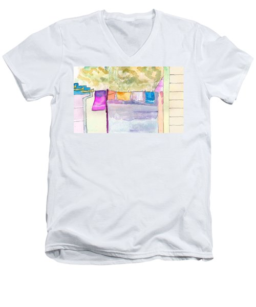 Clothes On The Line Men's V-Neck T-Shirt