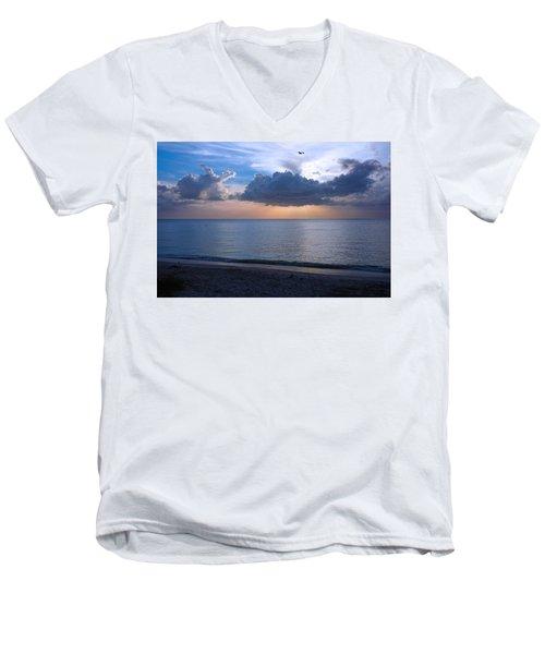 Cloud Creatures At Delnor Wiggins Pass State Park Men's V-Neck T-Shirt