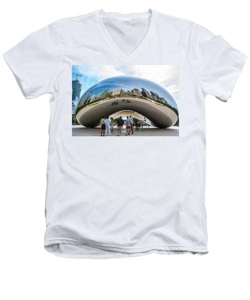 Cloud Gate Aka Chicago Bean Men's V-Neck T-Shirt