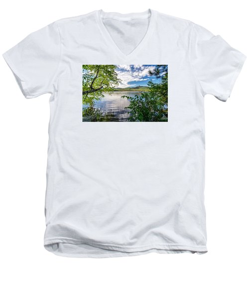 Cloud Swirl Mt. Chocorua Nh Men's V-Neck T-Shirt