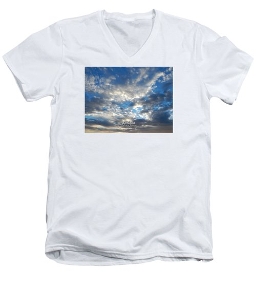 Clouds #4049 Men's V-Neck T-Shirt by Barbara Tristan