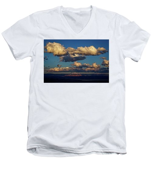 Clouds And Red Rocks Hdr Men's V-Neck T-Shirt