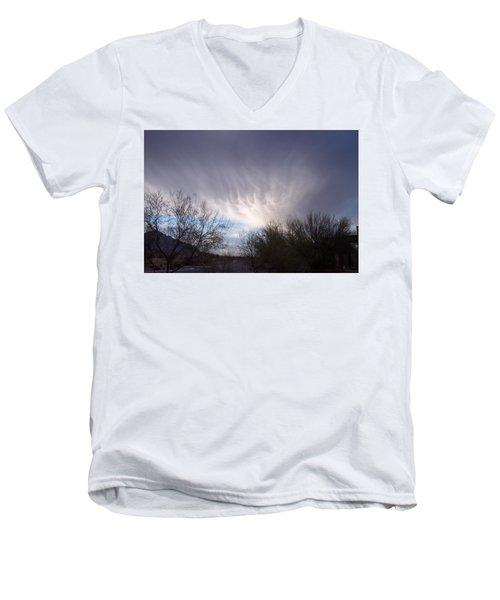 Clouds In Desert Men's V-Neck T-Shirt