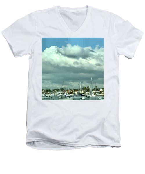Clouds On The Bay Men's V-Neck T-Shirt by Kim Nelson