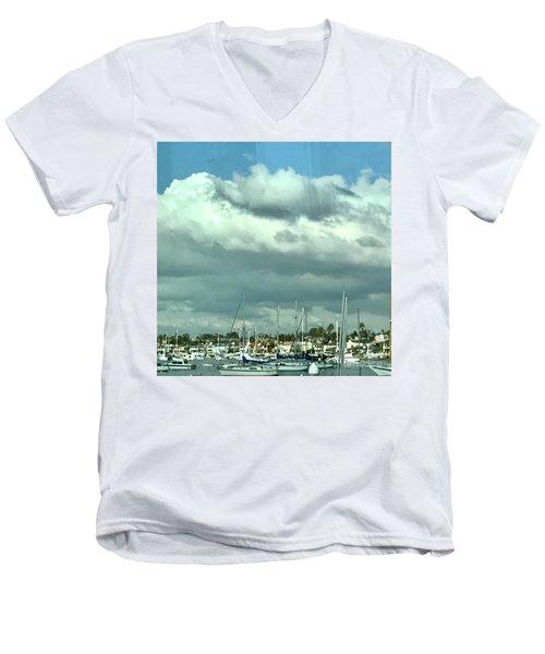 Clouds On The Bay Men's V-Neck T-Shirt