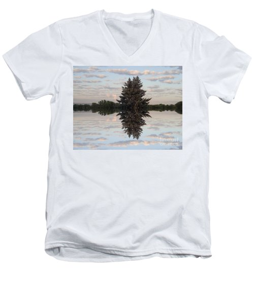 Clouds Up And Down Men's V-Neck T-Shirt by Christina Verdgeline