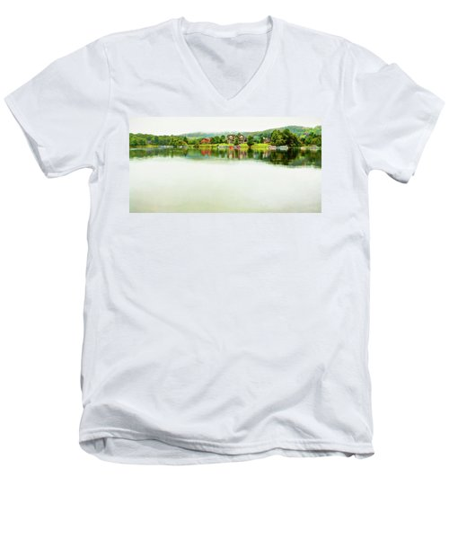 Cloudy Day On The Lake Men's V-Neck T-Shirt