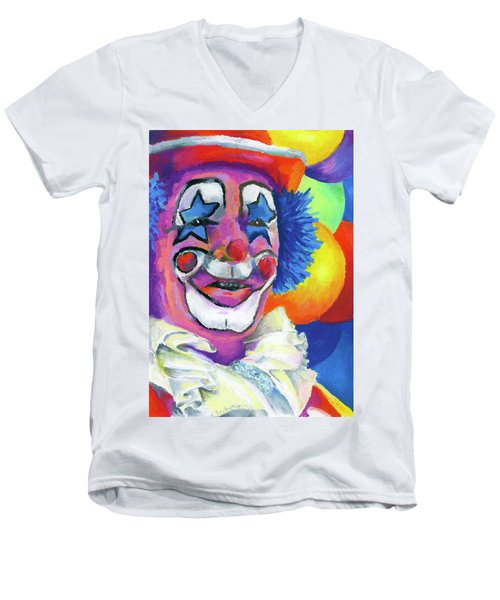 Clown With Balloons Men's V-Neck T-Shirt
