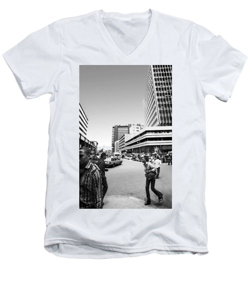 Cms Bus-stop Broad Street I Men's V-Neck T-Shirt
