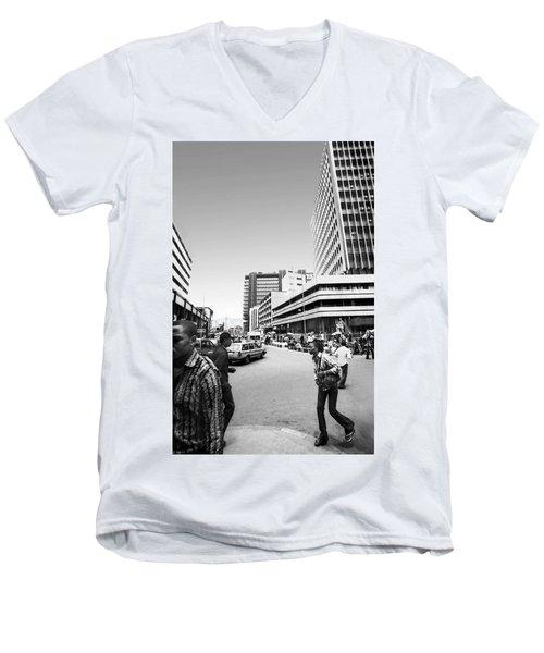 Cms Bus-stop Broad Street I Men's V-Neck T-Shirt