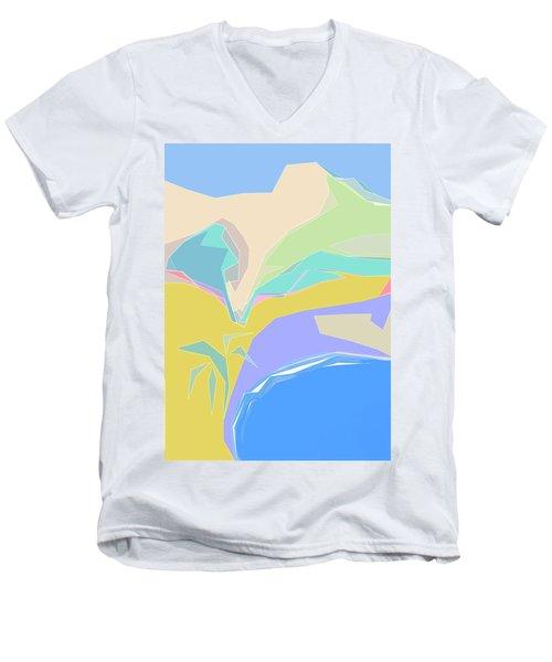 Coast Of Azure Men's V-Neck T-Shirt