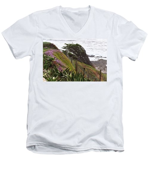 Coastal Windblown Trees Men's V-Neck T-Shirt