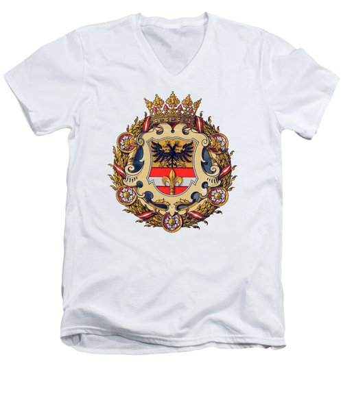 Coat Of Arms Of Triest Men's V-Neck T-Shirt